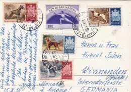 SAN MARINO - Burg, Gel.1956, 5 Sondermarken - San Marino