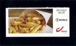 Belgium 2015 Duostamp Self-Adhesive ´World´ MNH, French Fries, Fried Potato Product, Frites Frieten - Ernährung