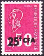 Réunion Marianne De Béquet N° 393 ** Le 25 F CFA Sur 0.50 - 1971-76 Marianne De Béquet