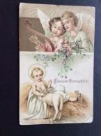 AK Feiern & Feste > Weihnachten JESUS UND DAS LAMM ANGEL ENGEL ANSICHTSKARTEN 1907 - Weihnachten
