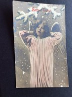 AK Feiern & Feste > Weihnachten KINDER MÄDCHEN  ANGEL ENGEL FOTOGRAFIE ANSICHTSKARTEN 1908 - Weihnachten