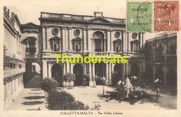 CPA MALTA  VALLETTA MALTA THE PUBLIC LIBRARY - Malte