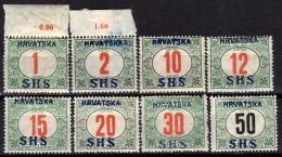 JUGOSLAWIEN Porto1918 - MiNr: 27-34y Komplett   * / MH - Timbres-taxe
