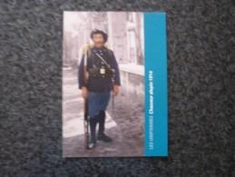 Carte Postale LES UNIFORMES Soldat Chasseur Alpin 24 è B C A Guerre 14 18 Reproduction Colorisée Grand Format 21 X 15 - Militaria