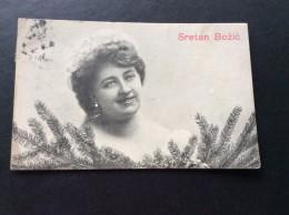 AK Feiern & Feste > Weihnachten SCHÖNES FRAU  Mädchen ANSICHTSKARTEN 1907 - Weihnachten