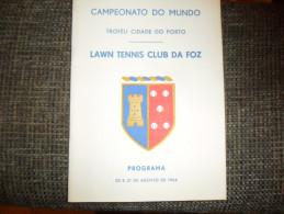 ANCIEN PROGRAMME PORTUGAIS/ CHAMPIONAT DU MONDE TROPHEE VILLE DE PORTO 1966 - Tennis
