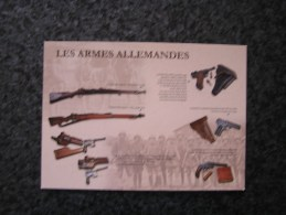 Carte Postale LES ARMES ALLEMANDES Arme Fusil Pistolet Guerre 14 18 Grand Format 21 X 15 - Militaria