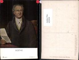 425830,Künstler Ak J. Stieler Goethe Lesen Kunst Wissenschaft Pub F. A. Ackermann 144 - Künstler