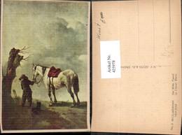 425978,Künstler Ak Wouwerman Le Cheval Blanc Het Witte Paard Junge Mann M. Hund Pferd - Pferde