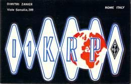 Amateur Radio QSL Card - I1KRP - Rome, Italy - 1969 - 2 Scans - Radio Amateur