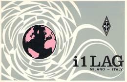 Amateur Radio QSL Card - I1LAG - Rome, Italy - 1968 - 2 Scans - Radio Amateur