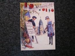 Carte Postale Reproduction Dessin Raymond André PAILLETTE Poilu SOLDATS FRANCAIS Guerre 14 18 Grand Format 21 X 15 - Militares