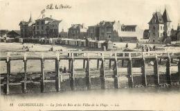 14 COURSEULLES JETEE DE BOIS ET VILLAS DE PLAGE LL - Courseulles-sur-Mer