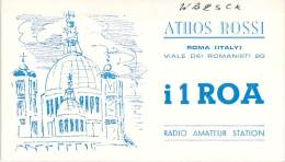 Amateur Radio QSL Card - I1ROA - Roma, Italy - 1969 - 2 Scans - Radio Amateur