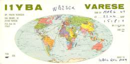 Amateur Radio QSL Card - I1YBA - Varese, Italy - 1969 - Radio Amateur