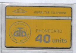 Gibraltar 101K  - First Card Issued, 40u