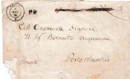 """C817 - Fascetta Del 8 Maggio 1856 Da RECCO  A Porto Maurizio Tassata A Penna """"6"""" Al Verso  . Leggi .... - Sardaigne"""