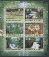 Guinée 2010 Les Paysages Guinéens Guinéennes RARE !! Sheet Of 6 Stamps Kleinbogen Bloc De 6 - Guinea (1958-...)