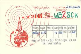 Amateur Radio QSL Card - LZ2IM - Bulgaria - 1967 - Radio Amateur