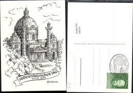 430191,Künstler Ak W. Kurasch Sudetendeutscher Tag Wien 1959 Karlskirche Stempel - Geschichte