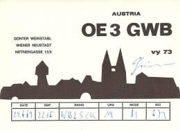 Amateur Radio QSL Card - OE3GWB - Austria - 1969 - Radio Amateur