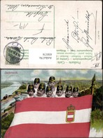 430174,Wien Kinder M. Soldatenkappen Fahne Patriotik Geschichte Österreich - Geschichte