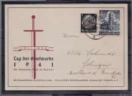 Sonderkarte Tag Der Briefmarke Solingen 1941 , Gelaufen !  (Del-3546d) - Deutschland