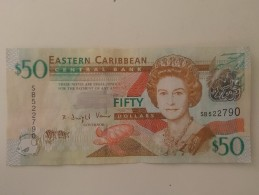 East Caribbean $5, $10, $20, $50 Used - Caraïbes Orientales