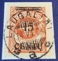 Memel Memelgebiet Cad / Stempel LAUGALIAI 1924 Geprüft Dr. Petersen BPP Michel 170 AI (Litauen Lithuania - Memel (1920-1924)