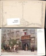 430426,Künstler Ak Ernst Graner Wien Hofburg Schweizertor Kutsche Pub B.K.W.I. 208/1 - Taxi & Carrozzelle