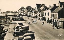- Morbihan -ref-D148 - La Trinite Sur Mer - Cours Des Quais - Cafe Restaurant De L Ocean - Voiture - Voitures - - La Trinite Sur Mer