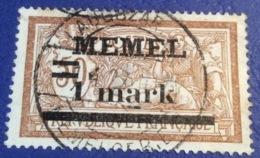 Memel Memelgebiet Cad / Stempel LAUGSZARGEN 1922 Geprüft Dr. Petersen BPP Michel 26 Merson - Memel (1920-1924)