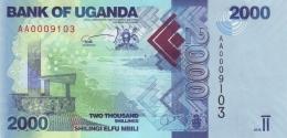UGANDA 2000 SHILLINGS 2010 P-50a UNC [UG155a] - Uganda