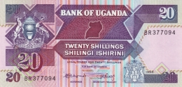 UGANDA 20 SHILLINGS 1988 P-29b UNC [UG133b] - Uganda