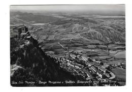SAN MARINO Cpsm Borgo Maggiore E Vallata Romagnola Vista Della Pieve - Saint-Marin