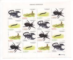 Guiné-Bissau Guinea Guinée Bissau 1997 Poisonous Animals Fauna 16 Stamps Mi. 1252 - 1255 MNH ** - Guinée-Bissau