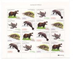 Guiné-Bissau Guinea Guinée Bissau 1997 Fauna Mammals Menacée Sheet 16 Stamps Mi. 1249 - 1251 MNH MNH ** - Guinée-Bissau