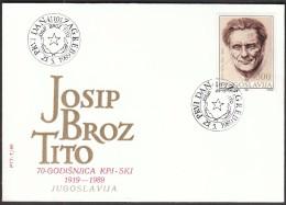 Yugoslavia Zagreb 1989 / Josip Broz Tito - Celebrità