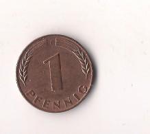 ALEMANIA 1  PFENNIG  1950 F - 1 Pfennig