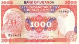UGANDA 1000 SHILLINGS 1986 P-26 UNC [UG129a] - Uganda