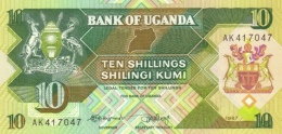 UGANDA 10 SHILLINGS 1987 P-28 UNC [UG132a] - Uganda