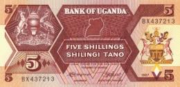 UGANDA 5 SHILLINGS 1987 P-27 UNC [UG131a] - Uganda