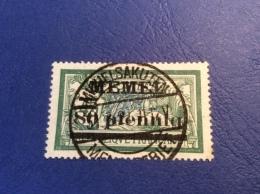 Memel Memelgebiet Cad / Stempel MICHELSAKUTEN 1921 Geprüft Dr. Petersen BPP Michel 25b Merson - Memel (1920-1924)