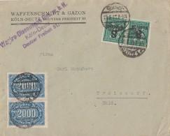 DR Brief Mif Minr.2x253, 2x 278 Köln 29.8.23 - Deutschland