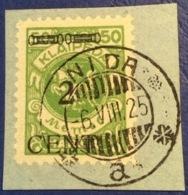 Memel Memelgebiet Cad / Stempel NIDA 1925  Geprüft Dr. Petersen BPP Michel 177 I  Litauen Lithuania Lituanie - Memel (1920-1924)