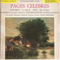 Schubert-Liszt-Kalman-Rachmaninoff – Pages Celebres NM/NM - Opera