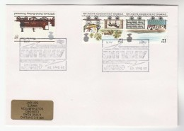 1986 GB Stamps COVER EVENT Pmk AYR - LARGS  RAILWAY ELECTRIFICATION Steam Train - Trains