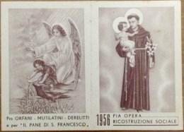 1956 Santino Calendarietto - Pro Orfani Mutilatini Deleritti - Pia Opera Ricostruzione Sociale - Calendari