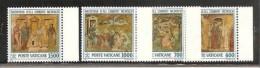 1992 Vaticano Vatican NATALE  CHRISTMAS Serie Di 4v. MNH** Bordo - Natale