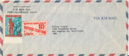 Haiti Air Mail Cover Sent To USA 1959 MAP On The Stamp - Haiti